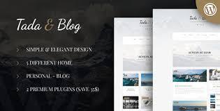 tada u0026 blog personal blog wordpress template by ad theme