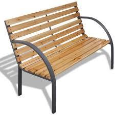 panchina in legno da esterno panchina da giardino con doghe legno e telaio di ferro