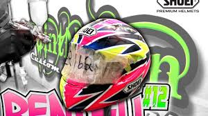 shoei helmets motocross ed rendell 2016 shoei xspirit 3 custom helmet youtube