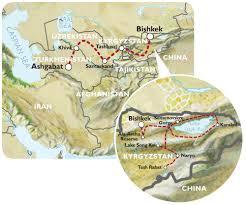 Silk Road Map Ashgabat To Bishkek 36 Days Silk Road Highlights And Kyrgyzstan