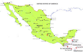Map Of The United States And Mexico by Maps Of The United States Map Cities Labeled Boaytk Also Map Of