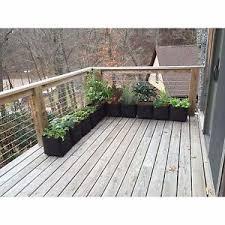 Black Planter Boxes by Outdoor Homes 1x1 Feet Black Instant Modular Raised Garden Planter