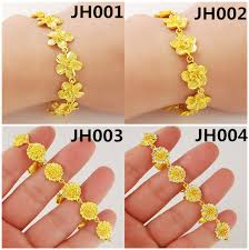 aliexpress buy new arrival fashion 24k gp gold jh002 real 24k gold bracelet top quality yellow gold golden