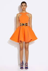 aq aq dresses aq aq tiara orange neck mini dress with skirt