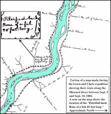 Lewis And Clark Expedition Map The Goldfuss Mosasaur