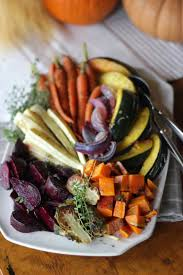 steffens hobick roasted root vegetable platter with lemon
