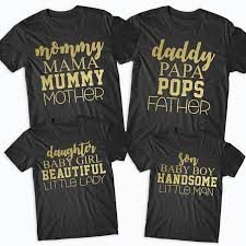 baby shower t shirts gold matching family t shirts