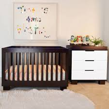 Convertible Crib Furniture Sets by Modern Babyletto 2 Piece Nursery Set Modo 3 In 1 Two Tone Crib