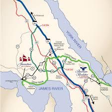 Map Of Williamsburg Va America U0027s Historic Triangle