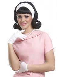 1950s headband 1950 s peggy sue flip up jackie o black wig w headband ebay