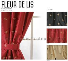 100 Length Curtains Custom 100 Wide Tailored Curtain Panel Fleur De Lis Www