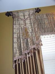 Top And Bottom Rod Curtains How To Cover A Curtain Rod On A Bay Window Hometalk