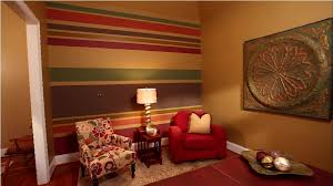paint horizontal stripes on a wall with multiple colors
