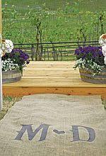 Burlap Wedding Aisle Runner Wedding Aisle Runner Wedding Collectibles