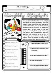 english worksheets healthy lifestyle worksheets