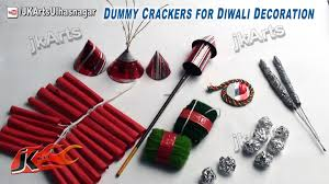 dummy crackers for diwali decoration project for diwali
