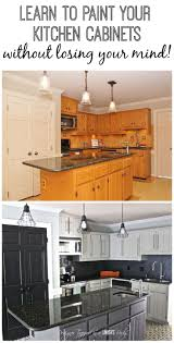 Diy Kitchen Cabinets Painting by Best 25 Repainted Kitchen Cabinets Ideas On Pinterest Painting