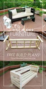 Wood Bench Plans Deck by Best 25 Diy Bench Ideas On Pinterest Benches Diy Wood Bench