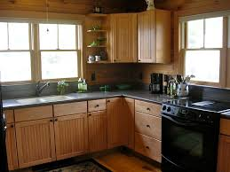 Cabin Kitchen Cabinets Cabin Kitchen Cabinets Kitchen Rustic With Cabin Exposed Beams