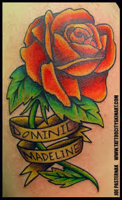 rose with banner by joseph pasternak tattoonow
