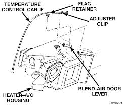 heater dodge dakota how do i connect a temperature cable in 1998 dodge dakota