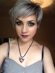 funky hairstyle for silver hair 17 best gray hair images on pinterest pixie hairstyles