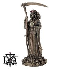 santa muerte reaper statue the luciferian apotheca your