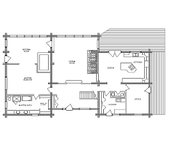 House Plans With Angled Garage Log Home Floor Plan Showplace