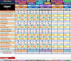 Workout Excel Template Workout Template Spreadsheet Search Team Fitthick