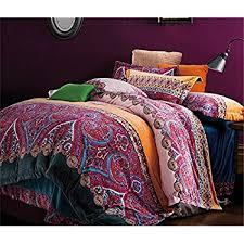 amazoncom fadfay home textileboho style bedding setboho duvet  with auvoau home textileboho style bedding setbohemian bedding setbohemian  comforter set from amazoncom