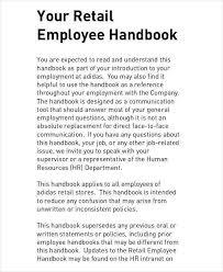 100 hr handbook template sample training manual template hr