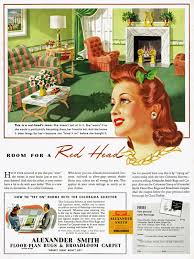 mad for mid century vintage ad room for a red head
