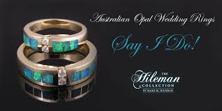 Opal Wedding Ring Sets by Australian Opal Jewelry Designs U2013 The Hileman Collection