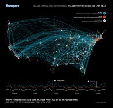 what day was thanksgiving in 2011 foursquare checkins reveal holiday travel patterns infographic