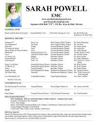 theatre resume template cyberuse
