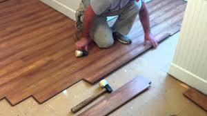 flooring how to installing laminate flooring with dark wooden