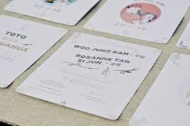 Wedding Invitation Printing 9 Creative Wedding Invitation Suite Designers In Singapore