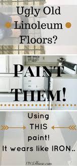 how to paint linoleum kitchen floors 1915 house