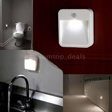 battery powered motion detector light battery powered motion sensor led night l with light bathroom