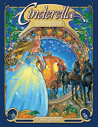 cinderella coloring book herb leonhard 9780976355588 amazon