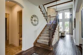 gehan homes stairway beige stone carpet staircase u shaped