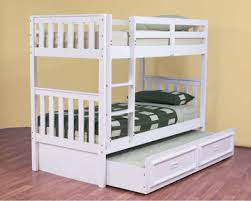 Bunk Beds Loft Beds Kids Double King Queen White Black - King single bunk beds