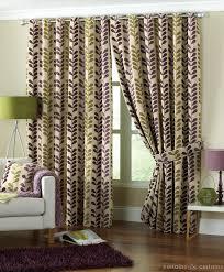 Thick Purple Curtains Aubergine Purple Green Rhythm Heavy Chenille Eyelet Curtain