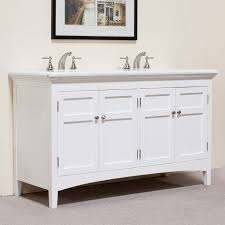 Marble Top Double Vanity Marble Top White 60 Inch Double Sink Vanity Contemporary Bathroom