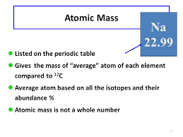 calculating atomic mass ppt video online download