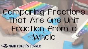 comparing fractions one unit fraction from a whole math coach u0027s