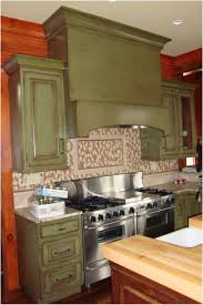 Brown Cabinets Kitchen Kitchen Green Kitchen Walls Brown Cabinets Image Of Kitchens