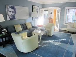 blue wall paint decoration in modern home living room colors