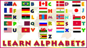 Europe Country Flags Learn Alphabets Alphabets With Phonetics Learn Country Flags