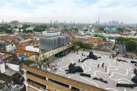 new public space on the roof of a car park